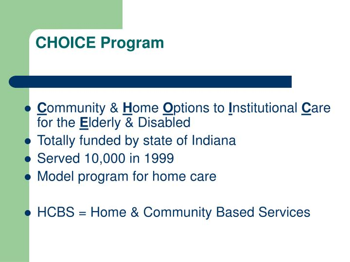 CHOICE Program