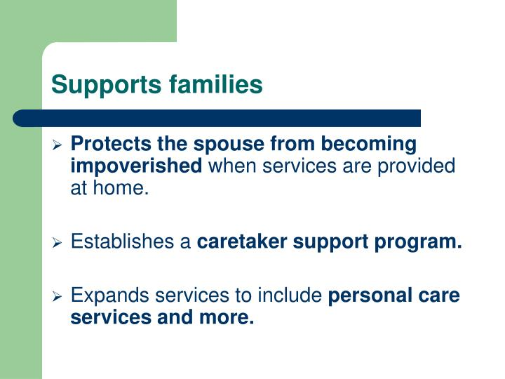 Supports families