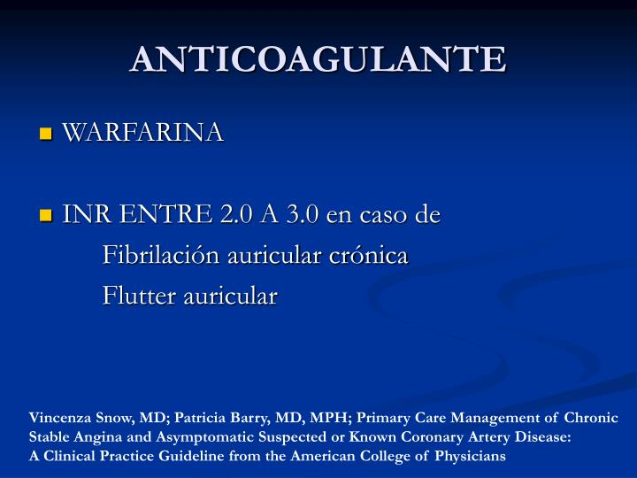 ANTICOAGULANTE