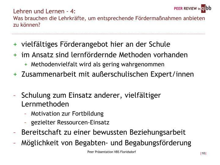 Lehren und Lernen - 4: