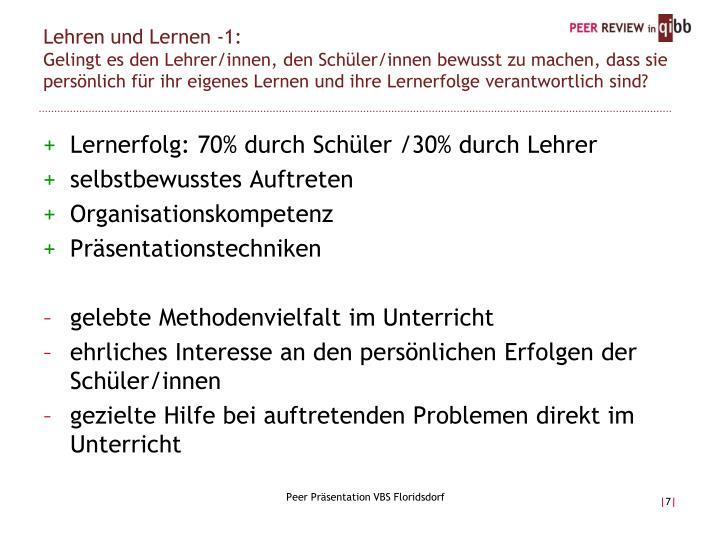 Lehren und Lernen -1: