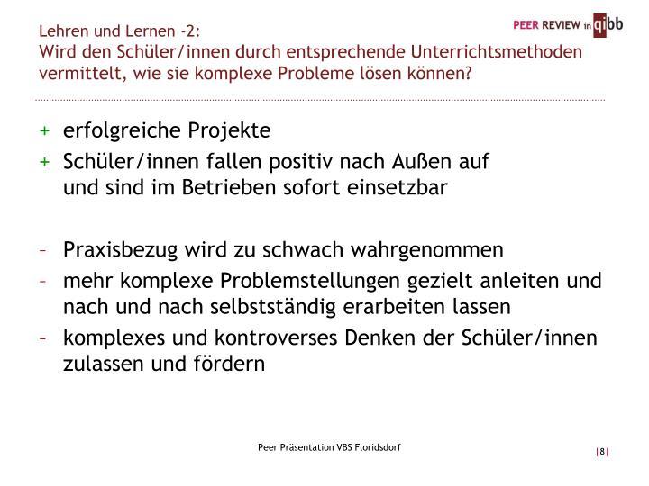 Lehren und Lernen -2: