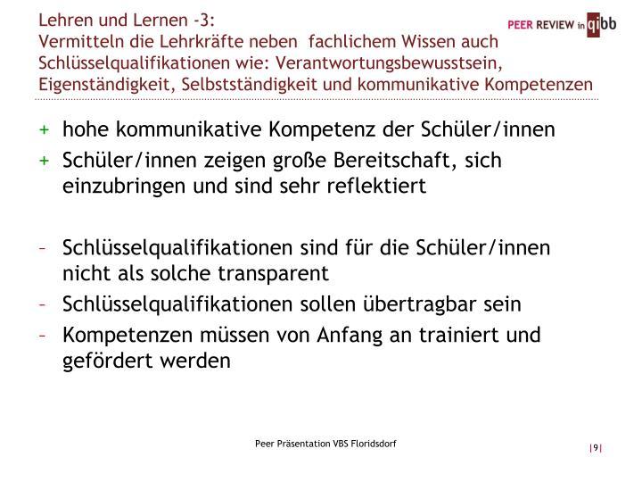 Lehren und Lernen -3: