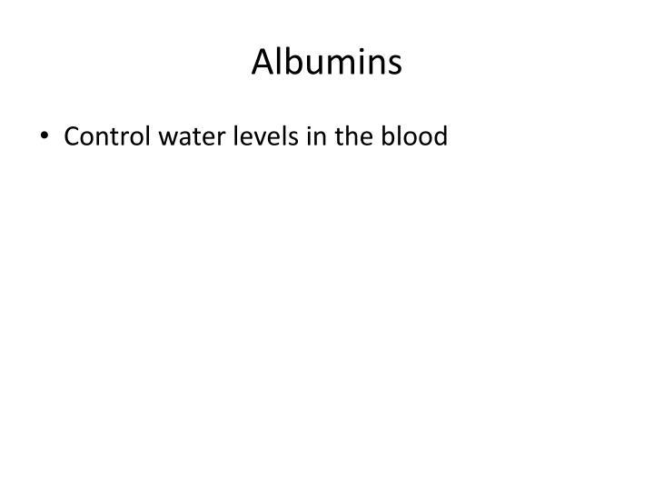 Albumins