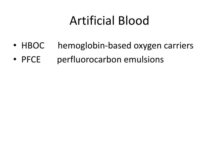 Artificial Blood