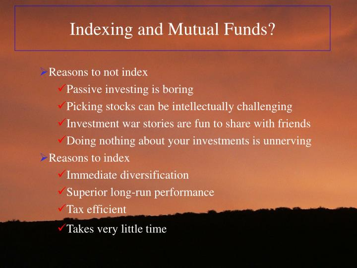 Indexing and Mutual Funds?