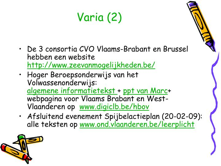 Varia (2)