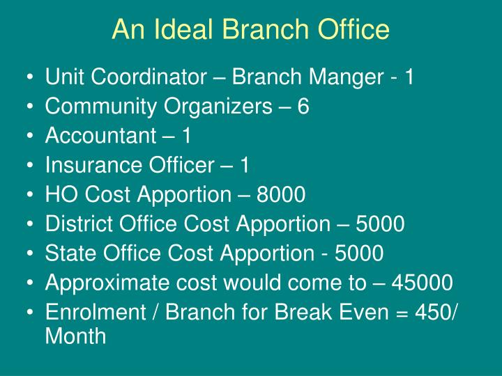 An Ideal Branch Office