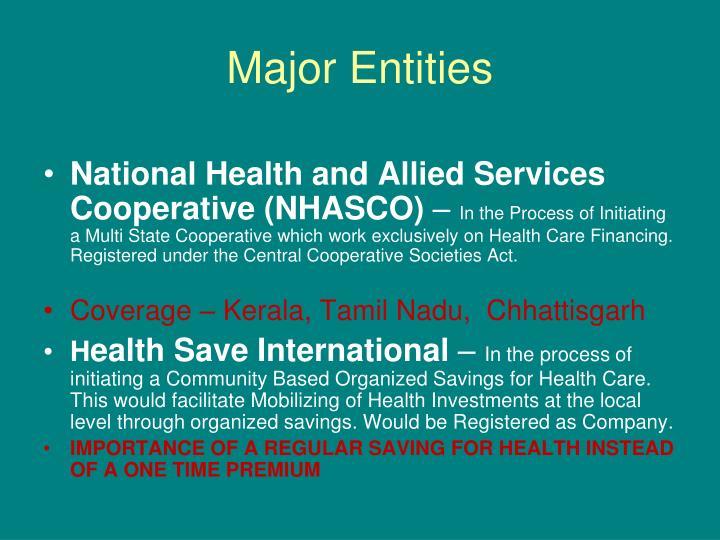 Major Entities