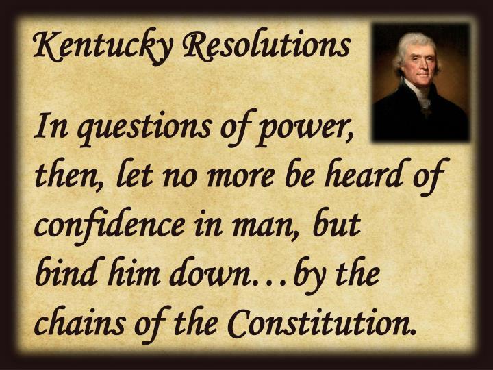 Kentucky Resolutions