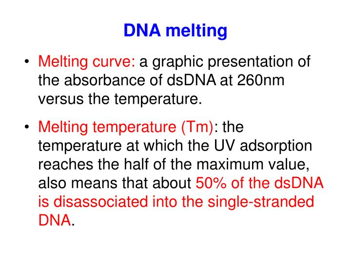 DNA melting