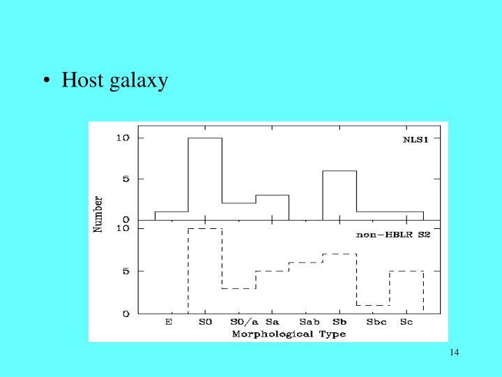 Host galaxy