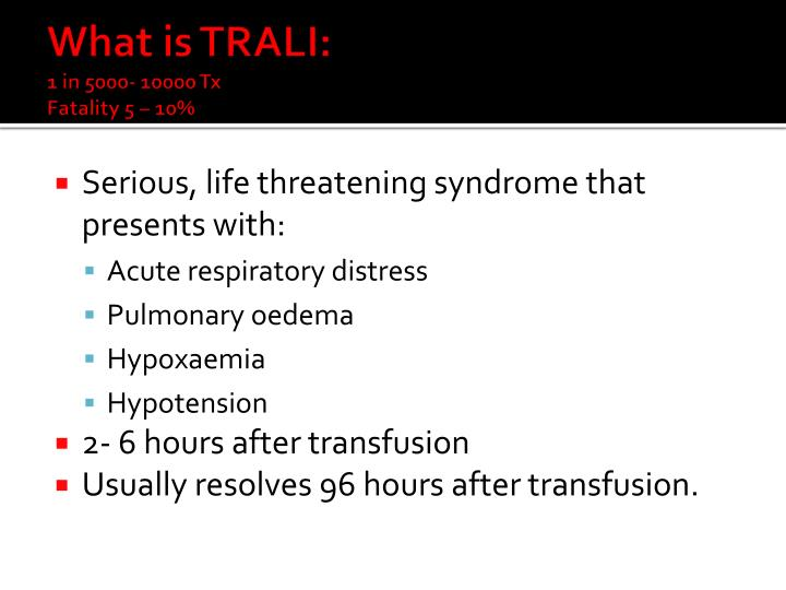 What is TRALI: