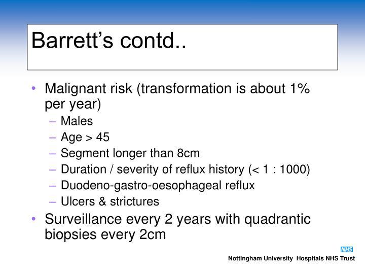 Barrett's contd..
