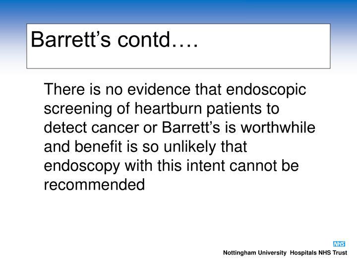Barrett's contd….