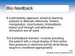 bio feedback