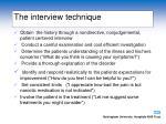 the interview technique
