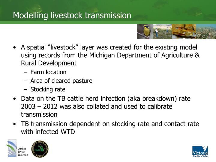 Modelling livestock transmission