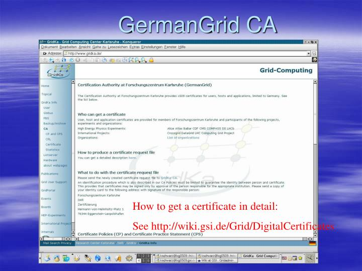GermanGrid CA