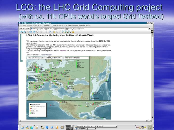 LCG: the LHC Grid Computing project