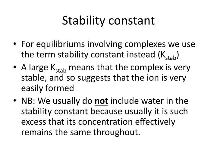 Stability constant