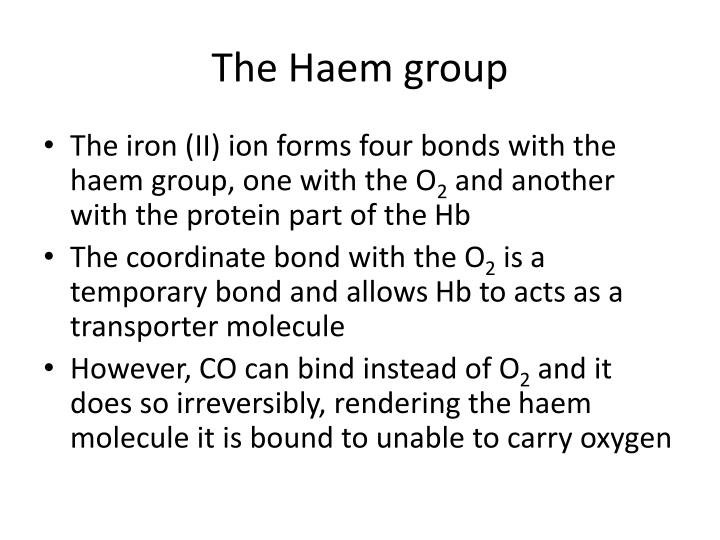 The Haem group