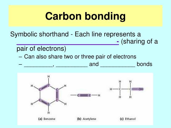 Carbon bonding