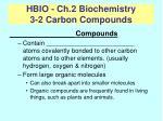 hbio ch 2 biochemistry 3 2 carbon compounds