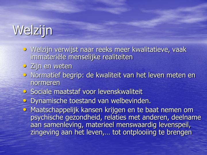 Welzijn