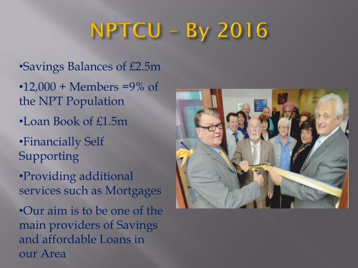 NPTCU – By 2016