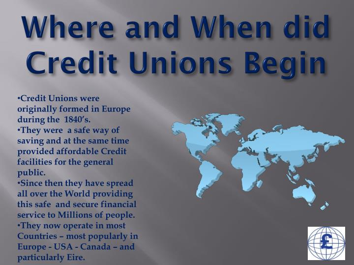 Where and when did credit unions begin