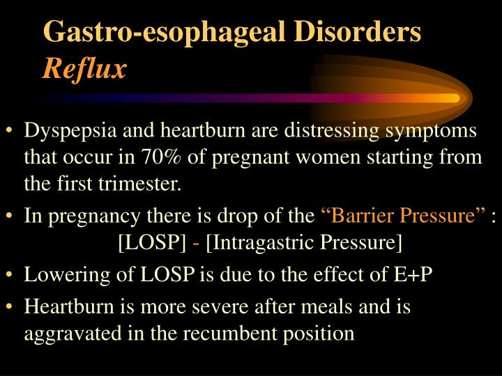 Gastro-esophageal Disorders