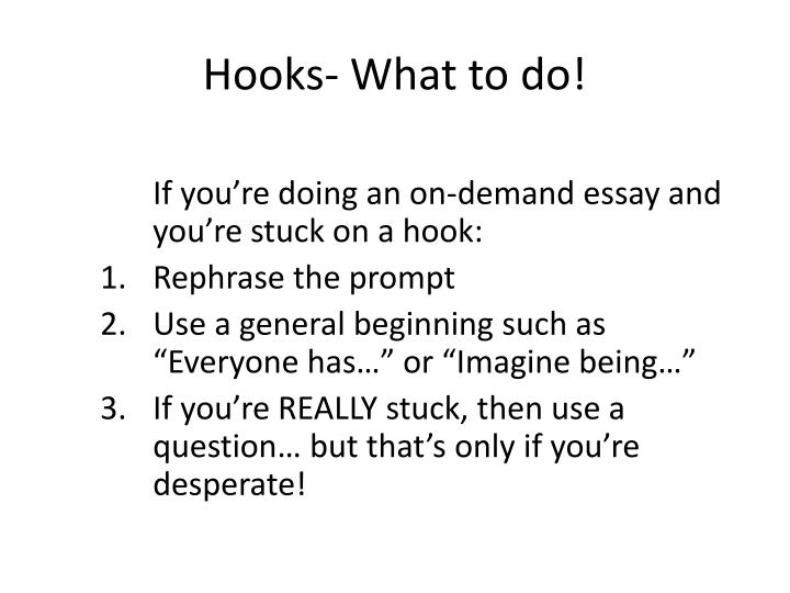 Hooks- What to do!