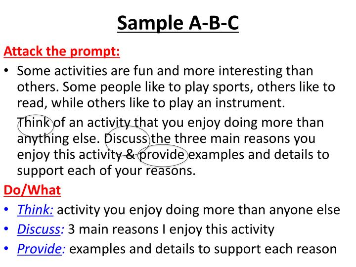 Sample A-B-C