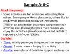 sample a b c