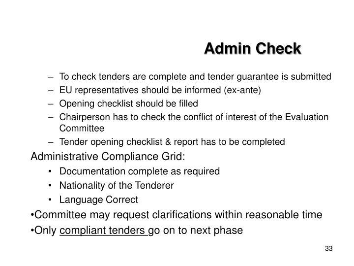 Admin Check