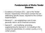 fundamentals of works tender dossiers