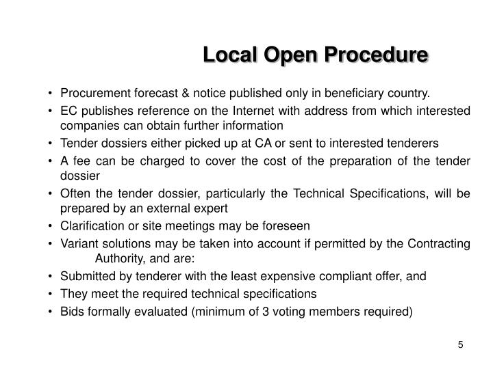 Local Open Procedure