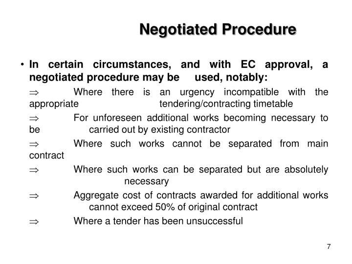 Negotiated Procedure