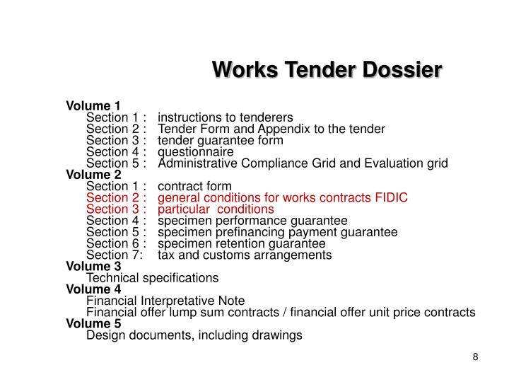 Works Tender Dossier