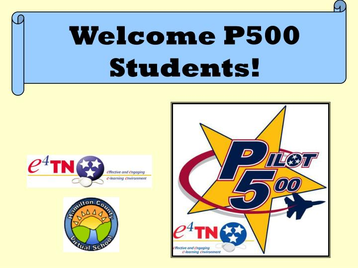 Welcome P500