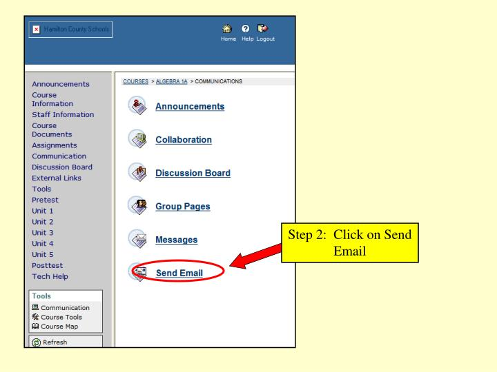 Step 2:  Click on Send Email