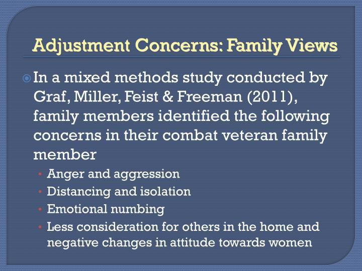 Adjustment Concerns: Family Views