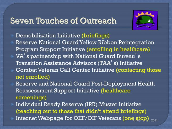 Seven Touches of Outreach
