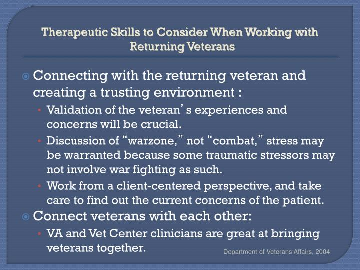 Therapeutic Skills to Consider When Working with