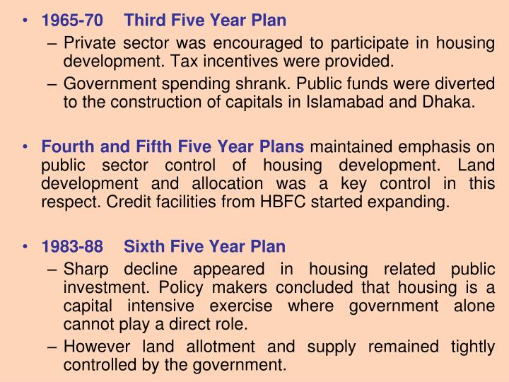 1965-70Third Five Year Plan