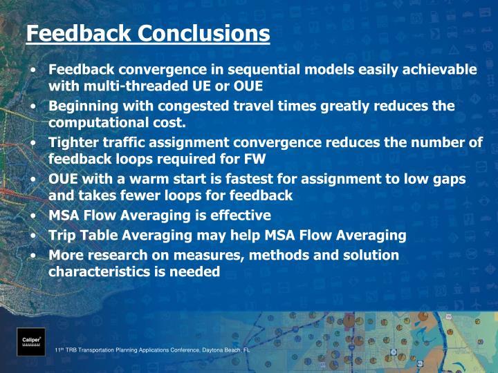 Feedback Conclusions