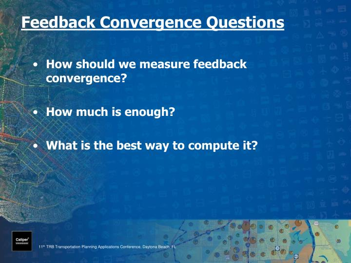 Feedback Convergence Questions
