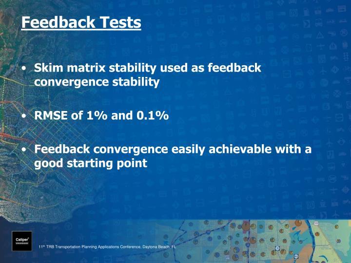 Feedback Tests