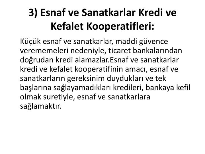 3) Esnaf